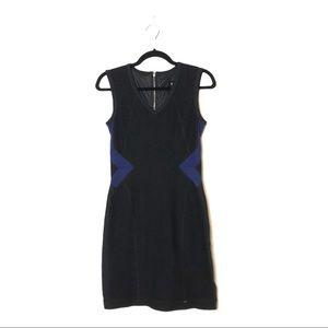 MARC CAIN Sports Wool Colorblock Sleeveless Dress